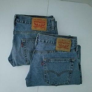 Levi's 505 Jeans Bundle 2 Pair 35 X 30 Light Wash